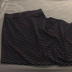Navy blue striped maxi skirt 💙😍